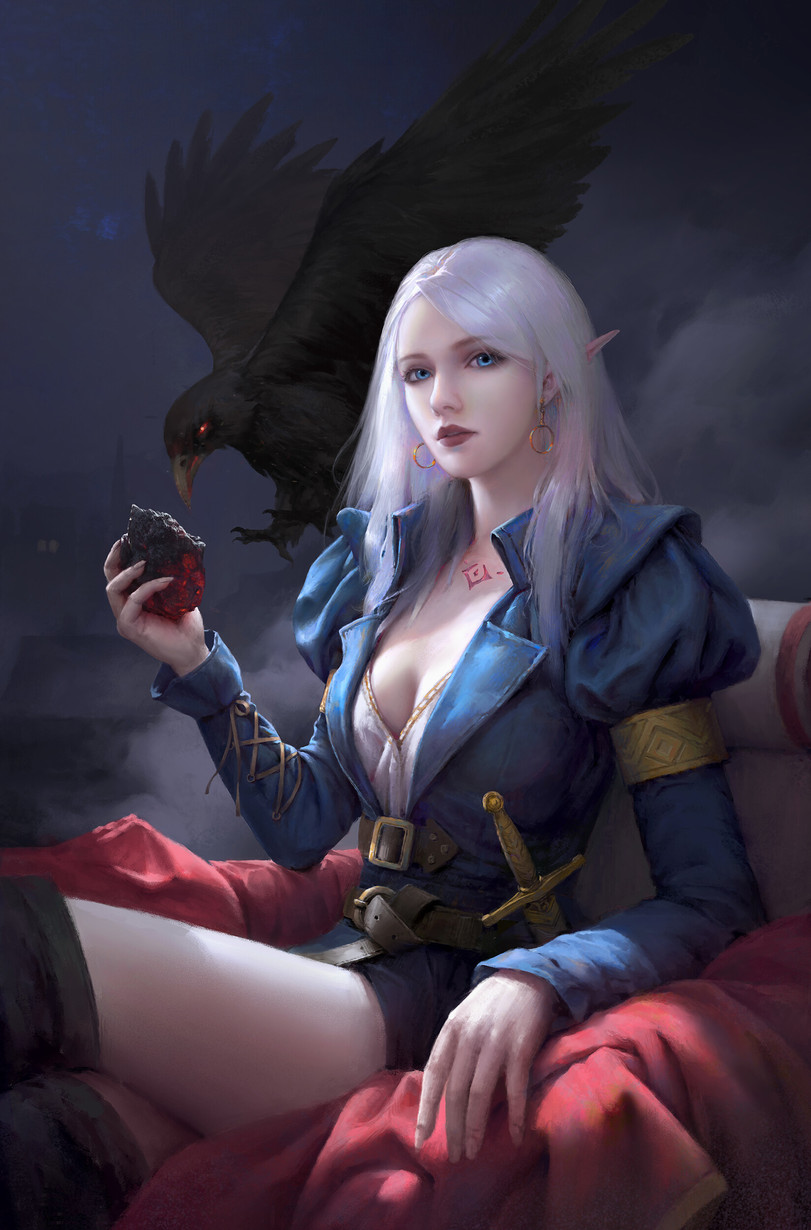 art-девушка-art-Fantasy-elf-5609462