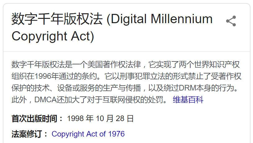 根据谷歌搜索DMCA数字版权信息反查可用电影网站