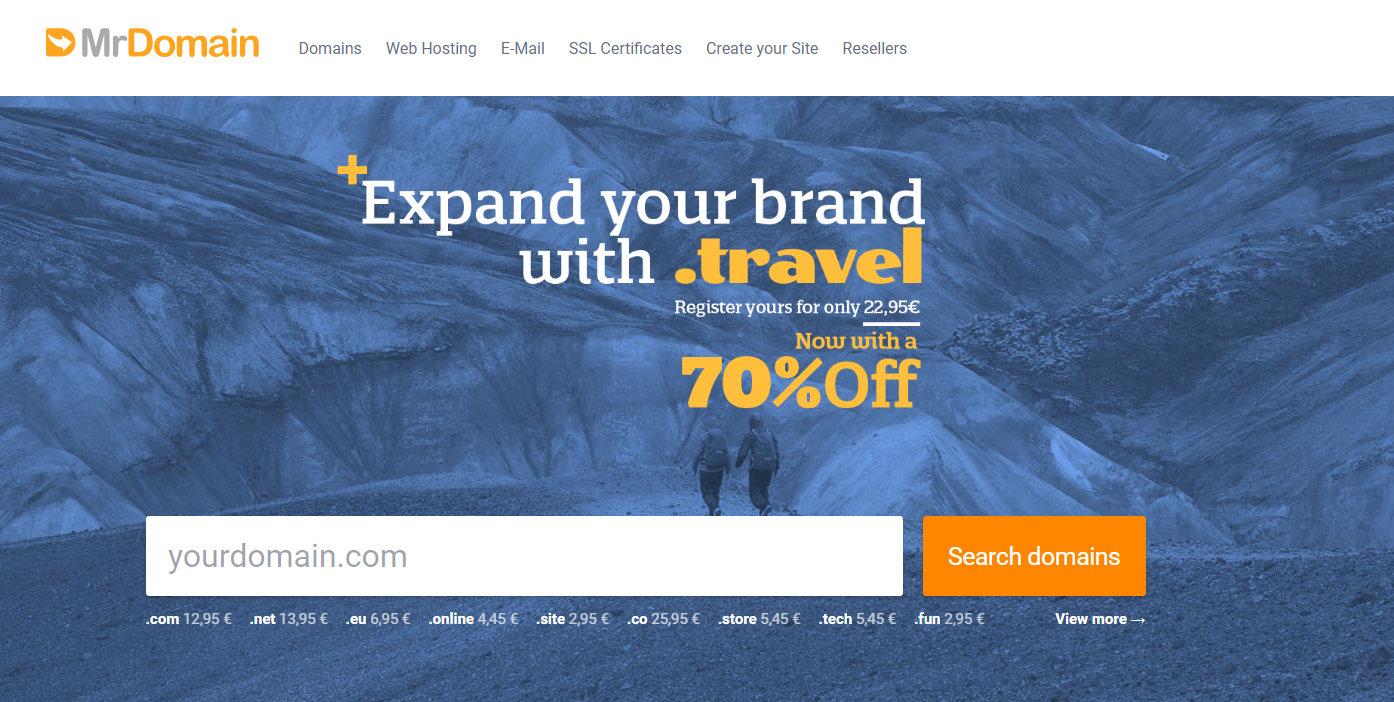 【免费域名】Dondominio免费注册一年.travel域名