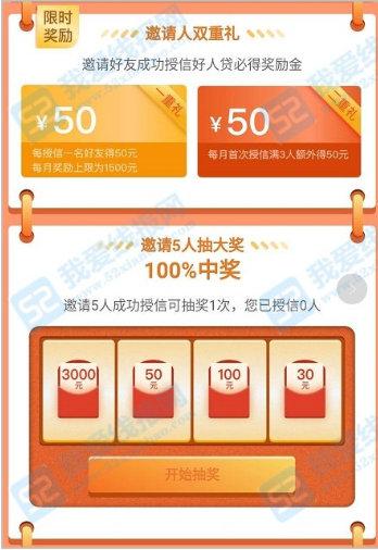 新网银行,邀请好友申请额度最低奖励50元现金 薅羊毛 第3张