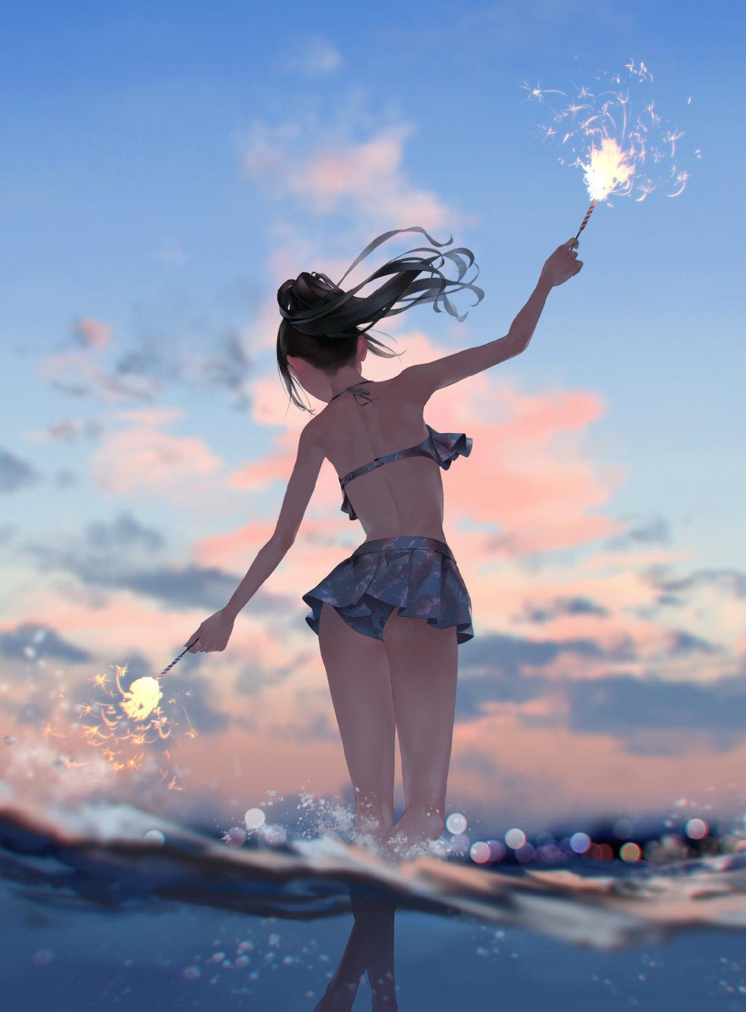 [P站画师] 日本画师爽々的插画作品,画风比较柔和 P站画师-第8张