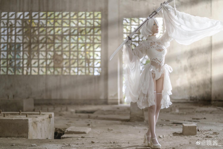[COS]镜酱 #尼尔:机械纪元#2b白色婚纱 COSPLAY-第3张