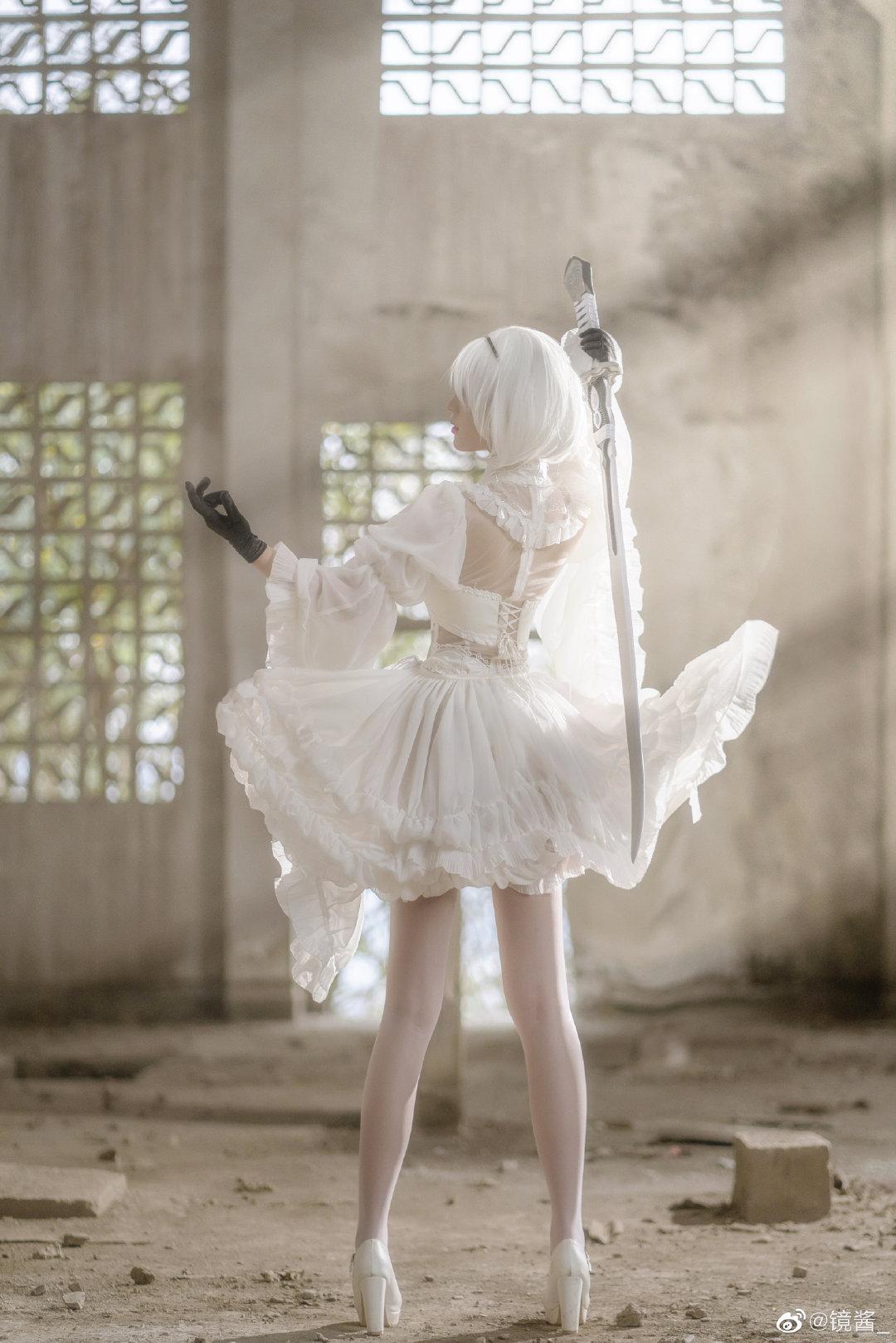 [COS]镜酱 #尼尔:机械纪元#2b白色婚纱 COSPLAY-第6张