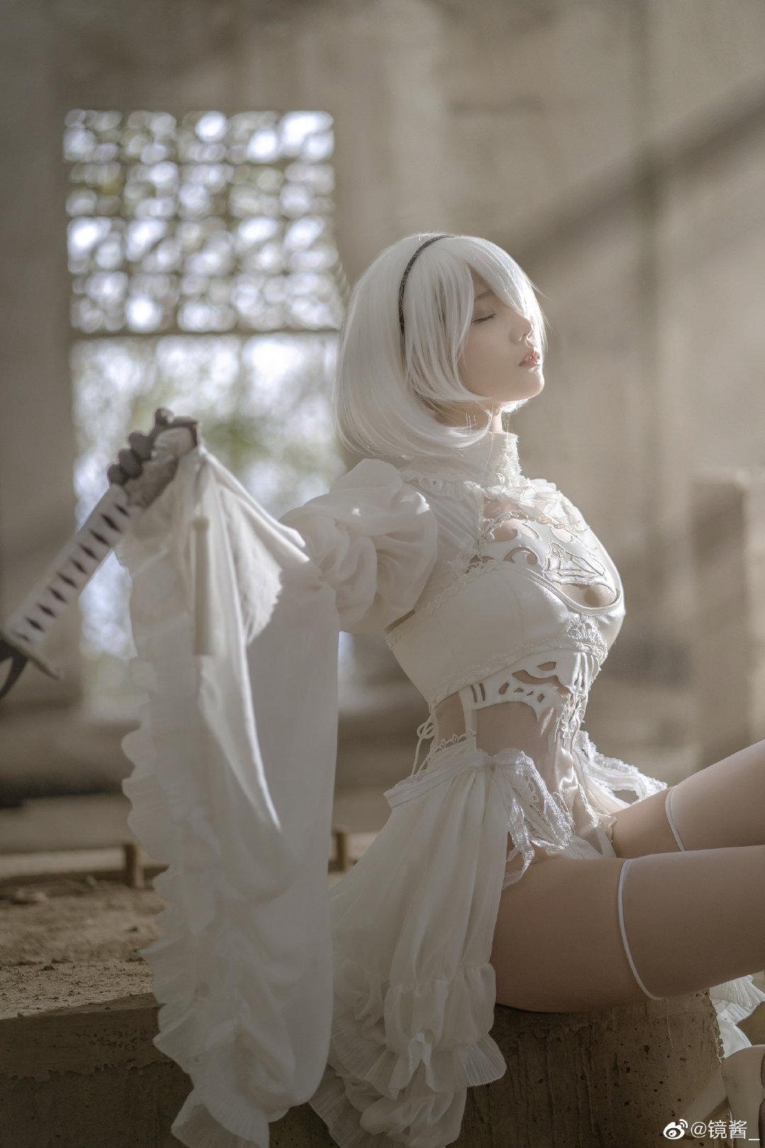 [COS]镜酱 #尼尔:机械纪元#2b白色婚纱 COSPLAY-第7张