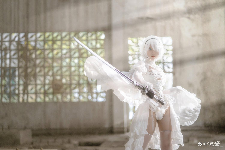 [COS]镜酱 #尼尔:机械纪元#2b白色婚纱 COSPLAY-第9张