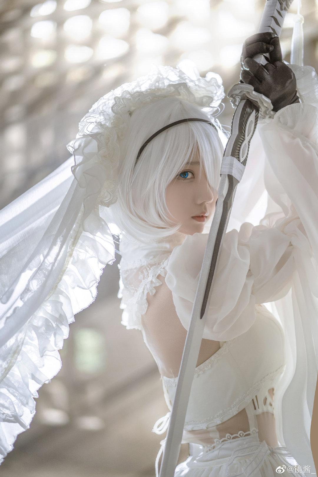 [COS]镜酱 #尼尔:机械纪元#2b白色婚纱 COSPLAY-第10张