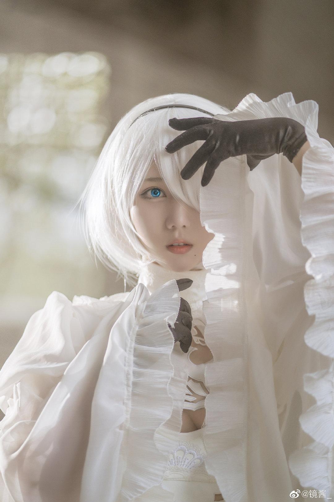 [COS]镜酱 #尼尔:机械纪元#2b白色婚纱 COSPLAY-第13张