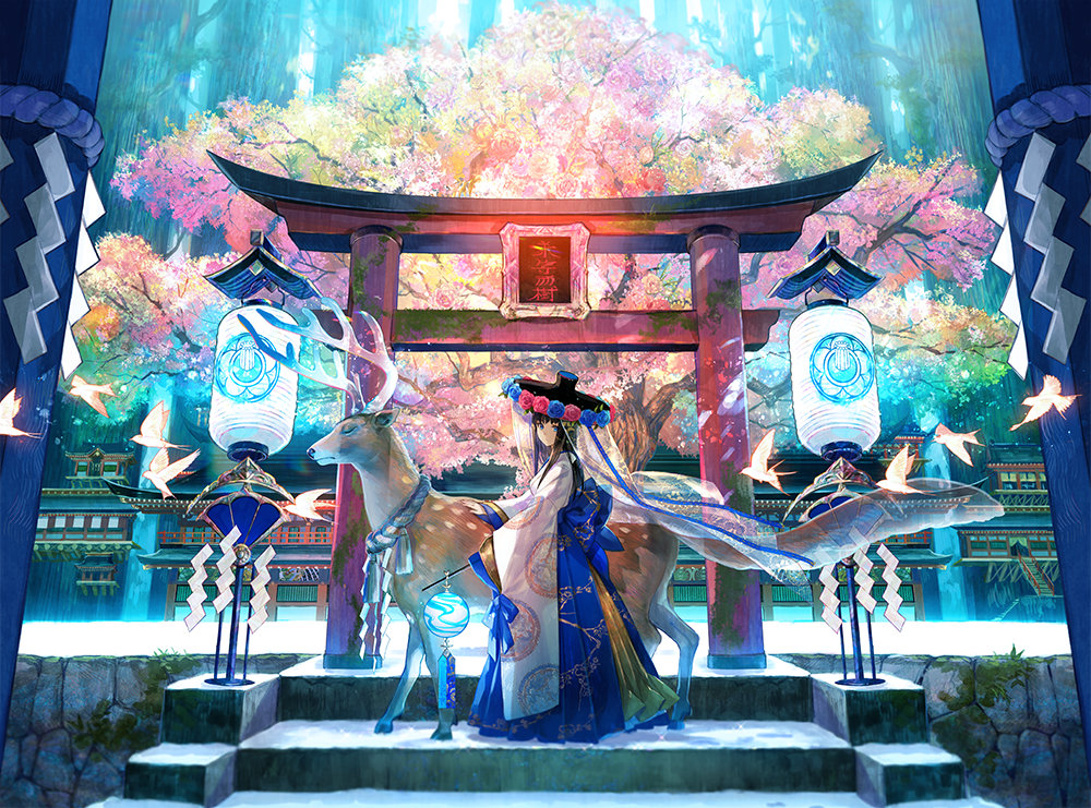 [P站画师]日本画师 藤原的插画作品,把日本风发挥展现的淋漓尽致 P站画师-第1张