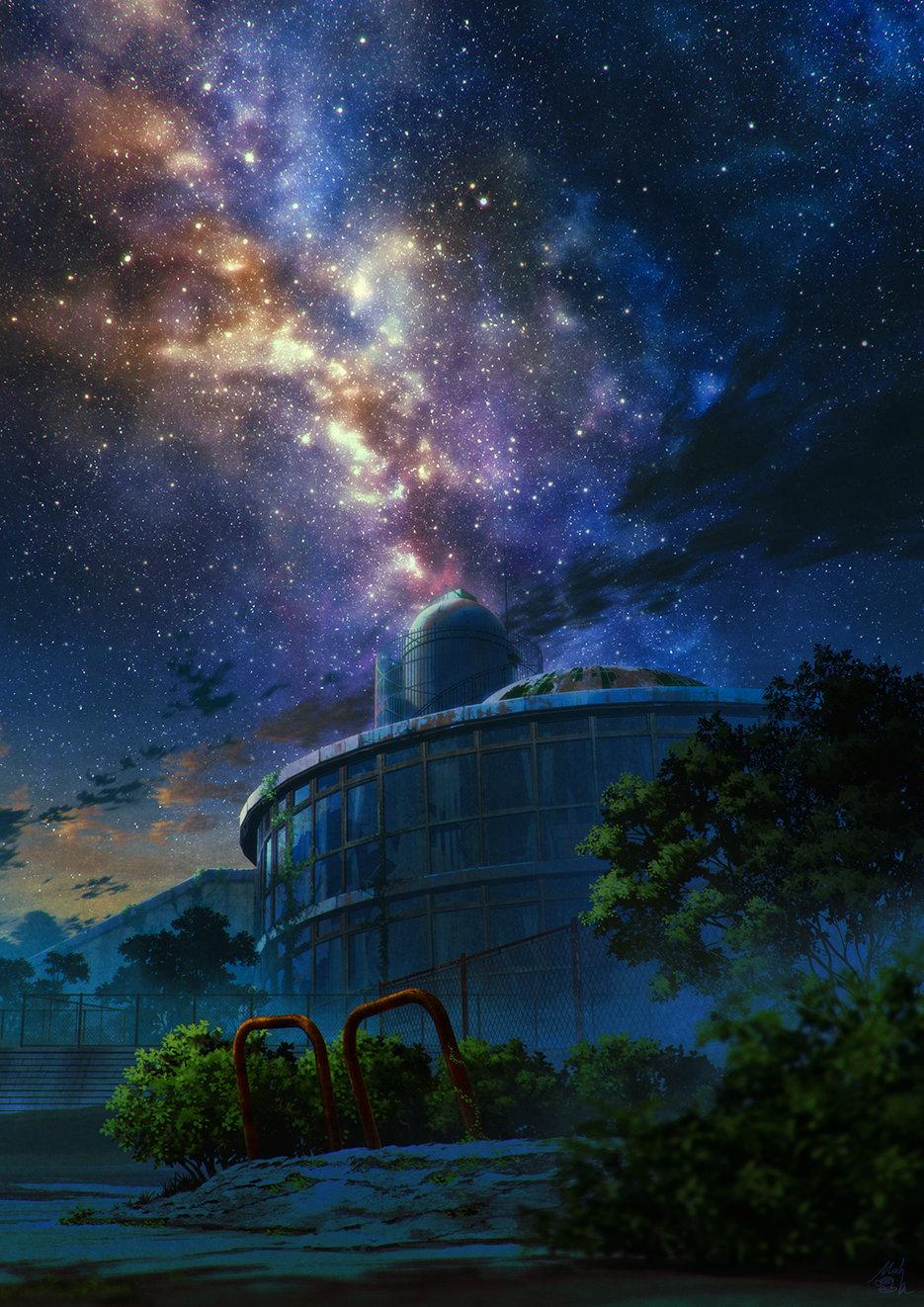 [美图推荐]夜空 星空 想念你的每个夜晚 电脑手机壁纸 手机壁纸-第9张