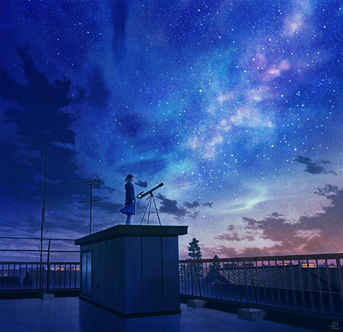 [美图推荐]夜空 星空 想念你的每个夜晚 电脑手机壁纸 手机壁纸-第8张