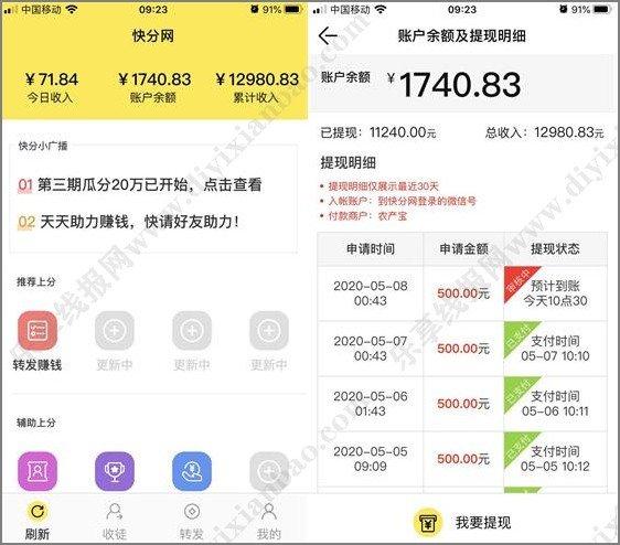 穷疯了快速挣钱的法子_推荐微信转发平台 网赚项目 第2张
