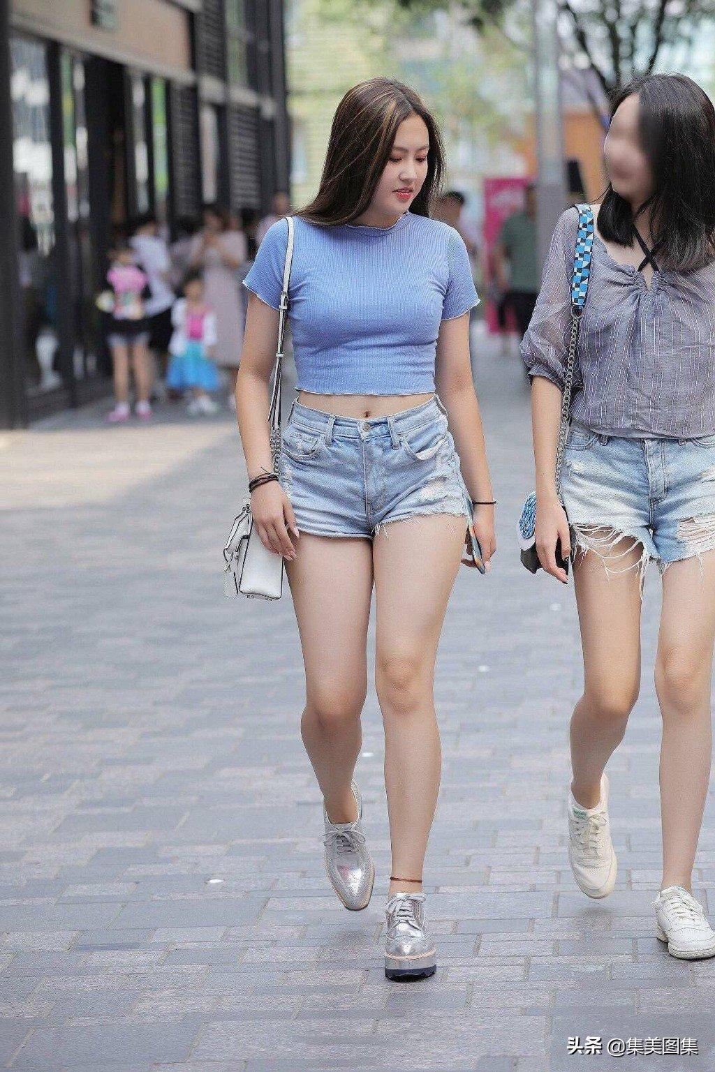 北方乡村美女图:农村大屁股女孩进城逛街图6p