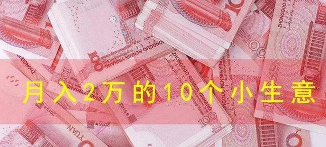 月入2万的10个小生意好做吗? 网赚项目 第1张