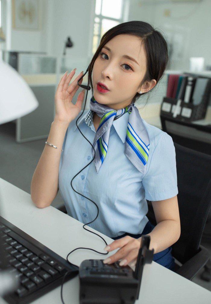 114销魂美女客服小姐姐与老板的图片故事