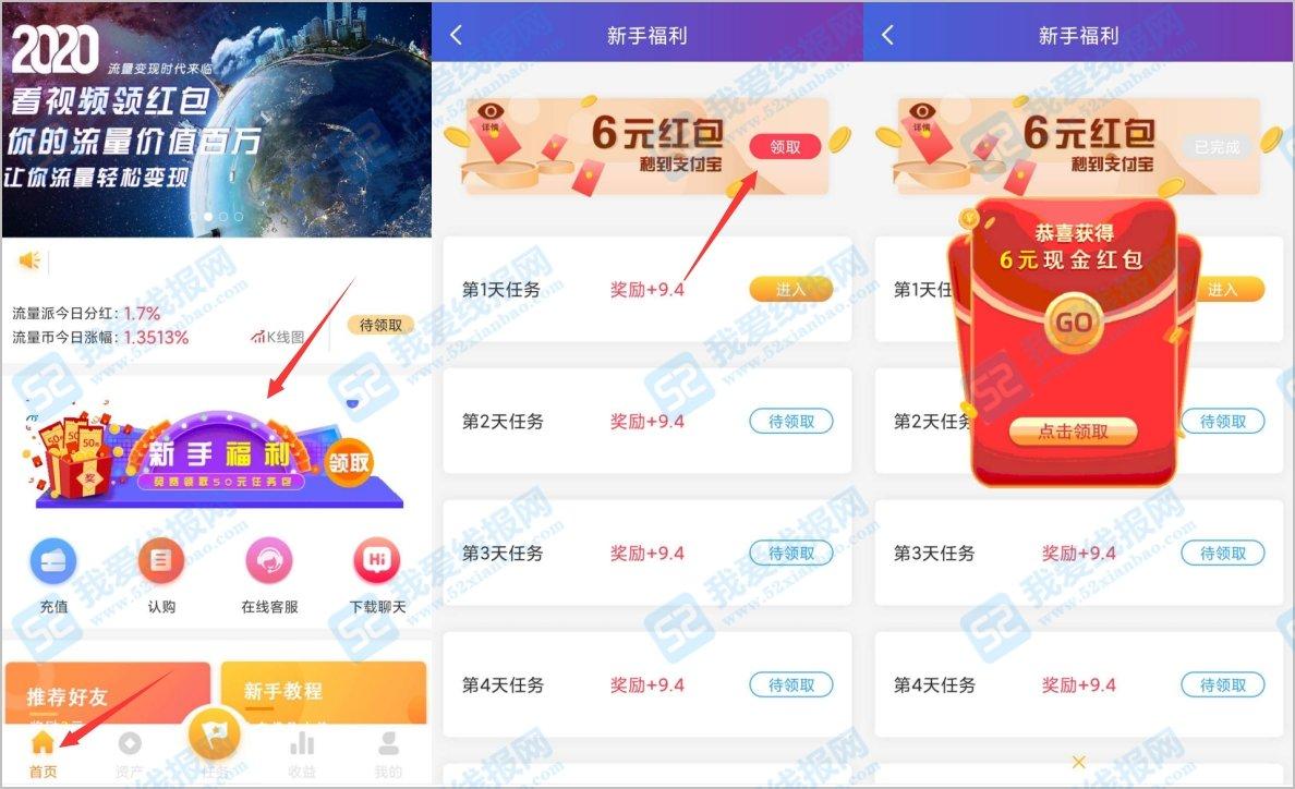 下载流量派app看视频免费领6元红包 网赚项目 第2张