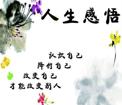 60句人生感悟的句子_句句都是感悟人生有深度有品味的句子