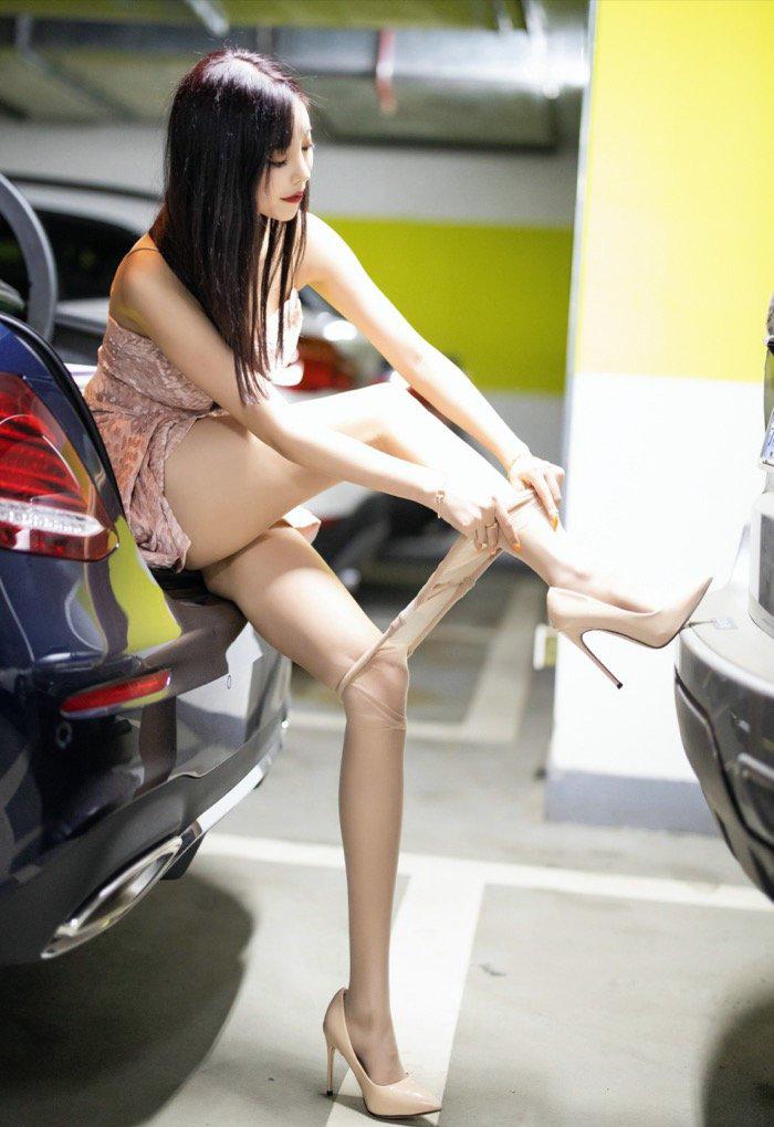 丝袜美腿美女114车模西西gogo高清大胆专业写真 节操写真馆 热图3