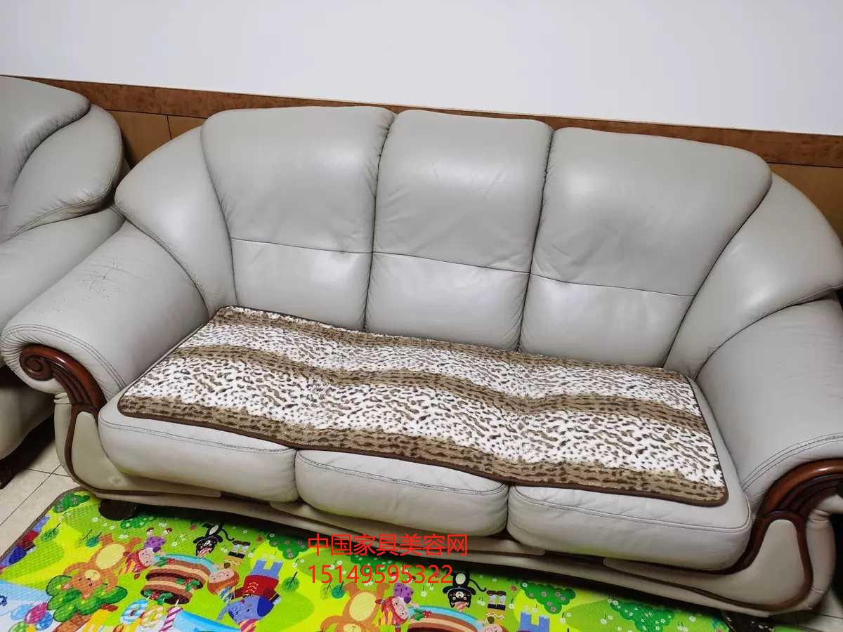 家具美容修复技术2-微损伤光面皮具沙发修复翻新步骤教程-家具美容网