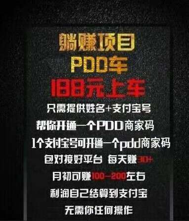 PDD暴力躺赚项目每天稳定30+ 网赚项目 第1张