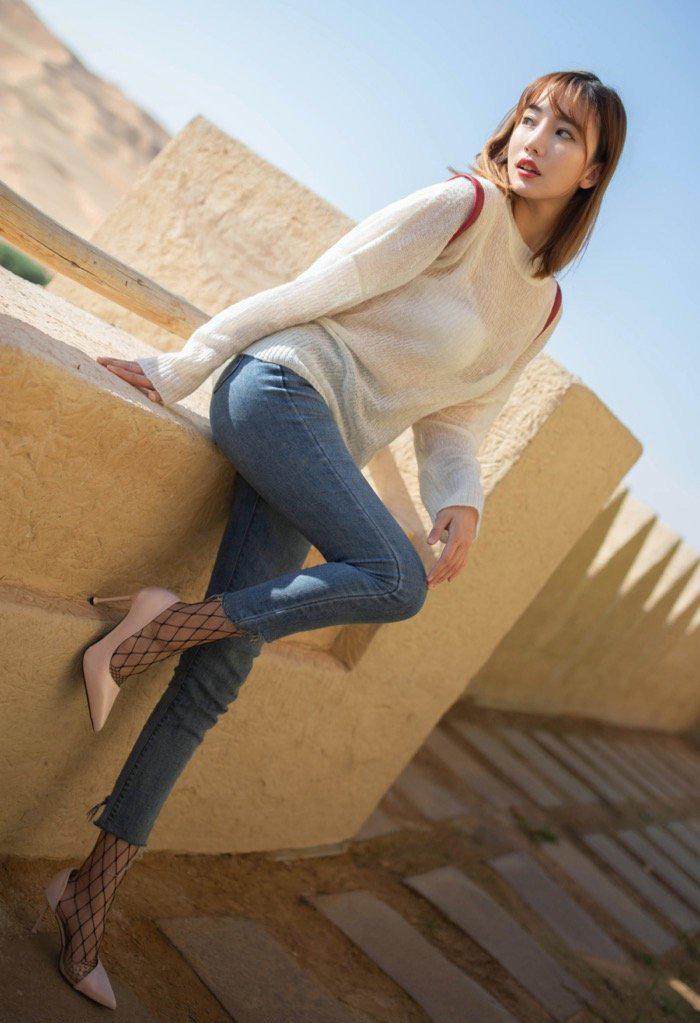 牛仔裤大长腿美女诱惑mm131美女图片26p