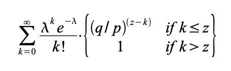 Poisson density