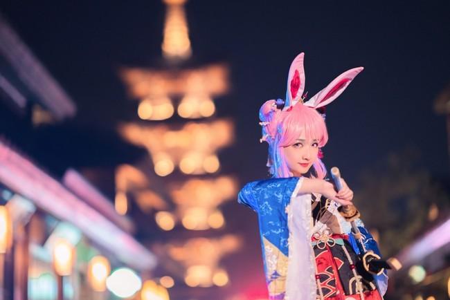 【cosplay】崩坏3八重樱信花舞伎cos图片壁纸