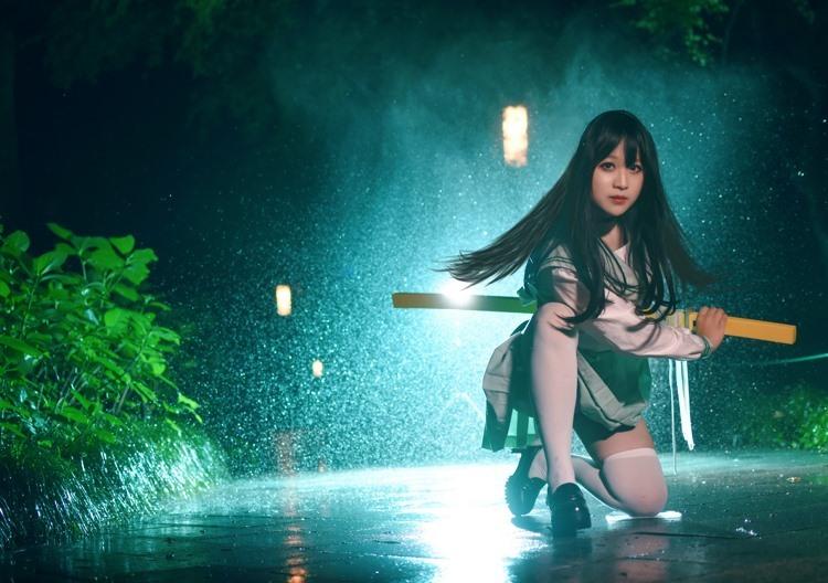 LID-046韩国漂亮脸蛋美女蕾丝裙居家写真