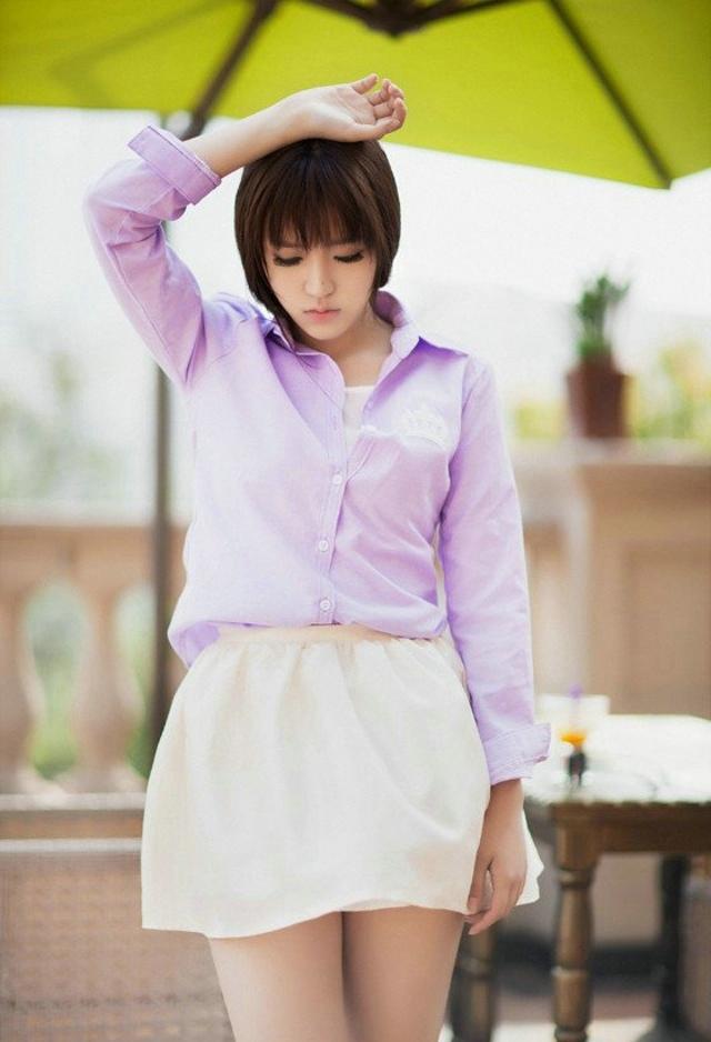 IDBD-509韩国雪白胸脯性感妩媚美女超短诱惑