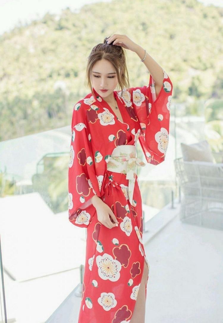 MIDD-951韩国美女一袭红色连体超短秀性感