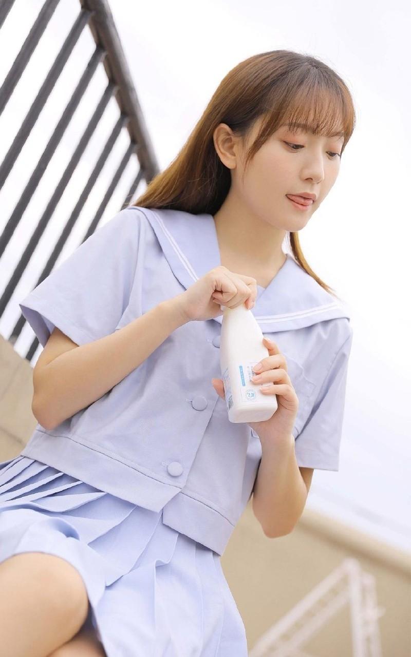 EKW-033美女模特白色蕾丝透视装写真  可爱性感