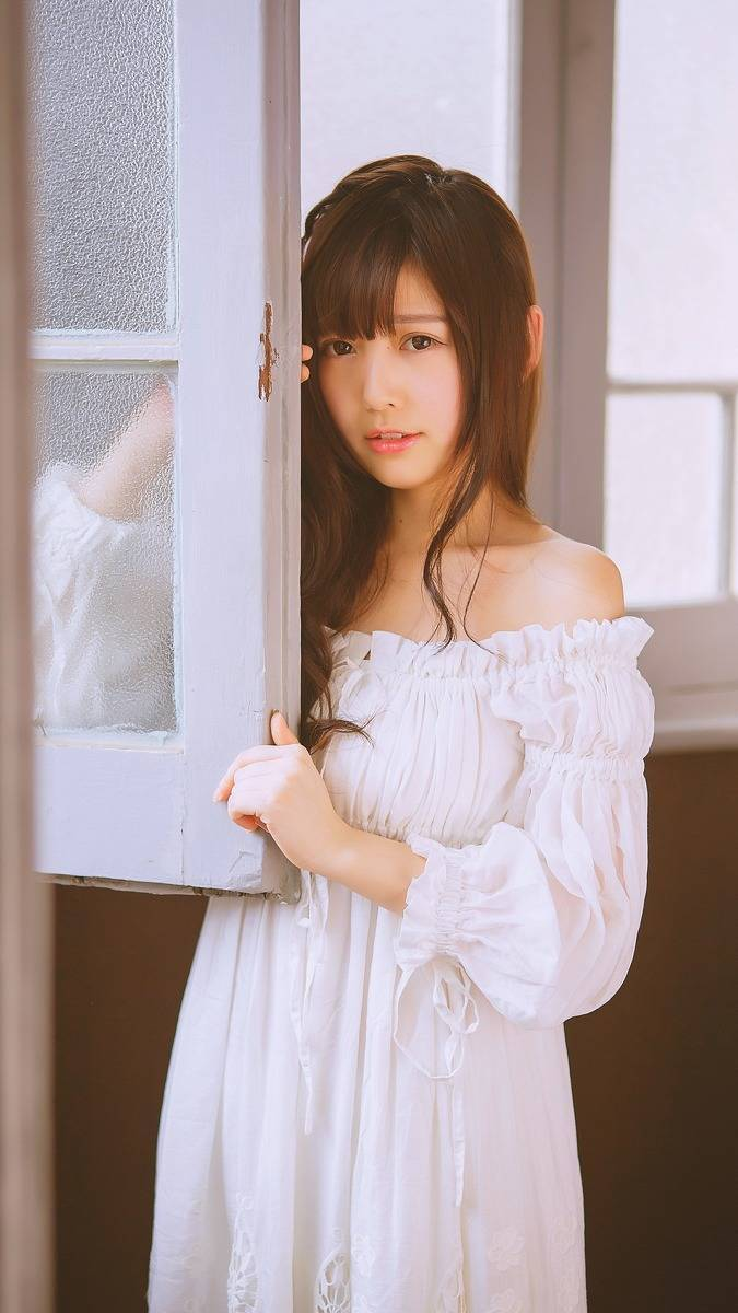 DJE-063性感美女写真图片 演绎白色书房诱惑