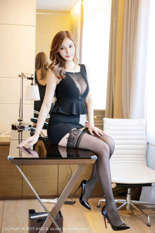 4RB-362透视装美女芝芝情趣黑丝袜高跟美腿翘臀诱惑写真