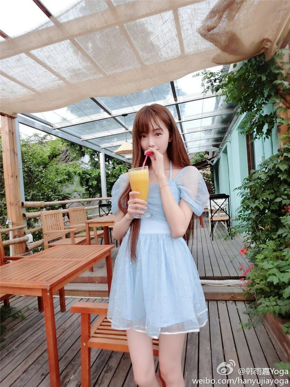 7MIAD-602户外性感女孩图片 黄色内衣靓丽诱人