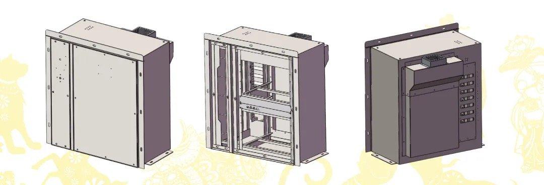 电力机车微机柜钣金加工