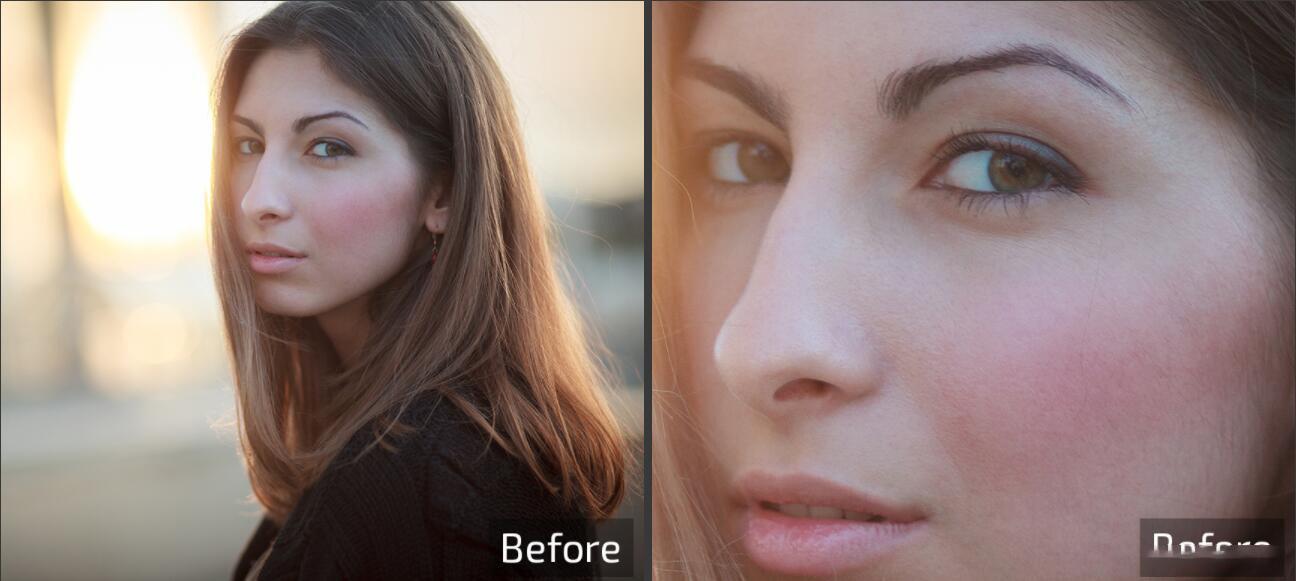 Retouch4me 6套合集 AI人工智能美容润饰中性灰均匀肤色清洁背景_AI磨皮动作 _效果图6