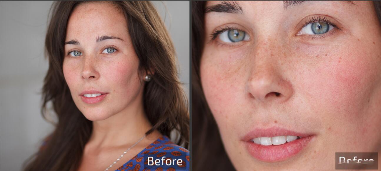 Retouch4me 6套合集 AI人工智能美容润饰中性灰均匀肤色清洁背景_AI磨皮动作 _效果图8