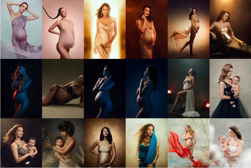 摄影教程_Donatella Nicolini 30种孕妇宝妈私房摄影布光照明图灯光系列套装 摄影教程 _预览图2