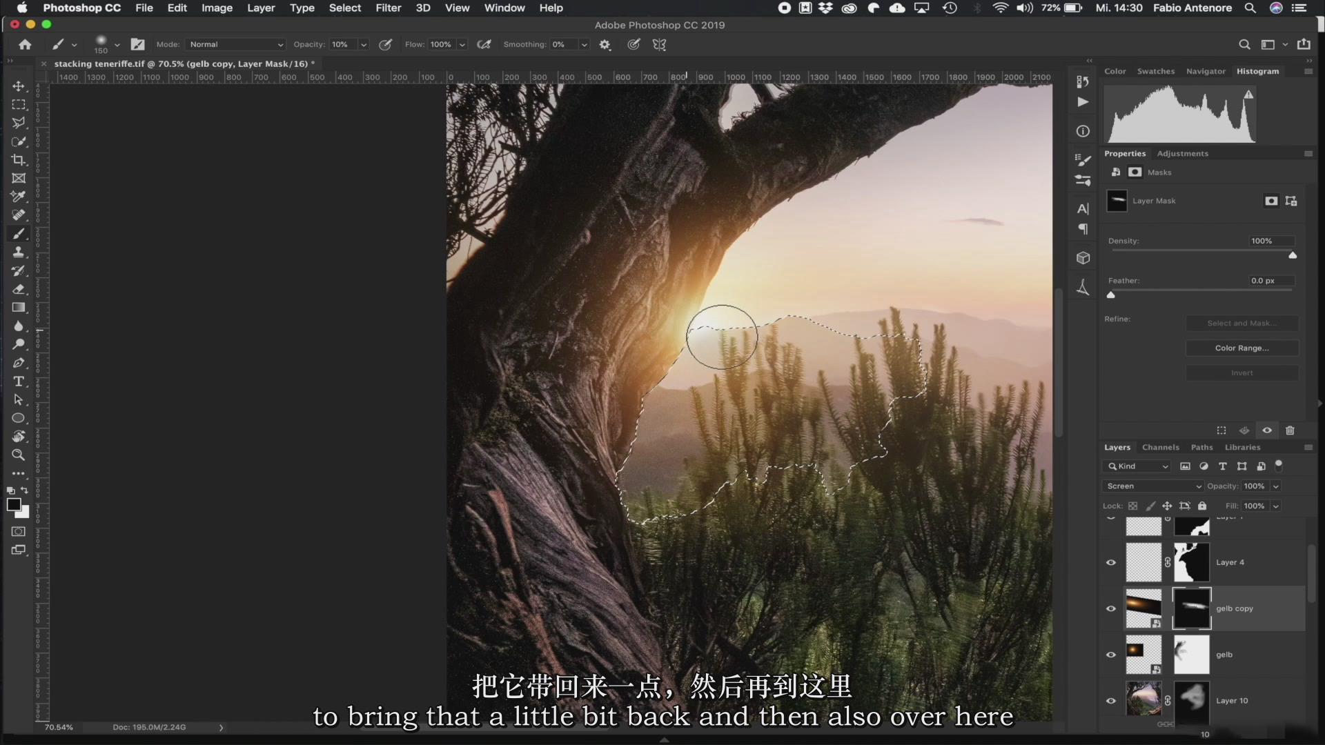 摄影教程_Fabio Antenore-超级真实银河系夜景风光摄影及后期附扩展素材-中英字幕 摄影教程 _预览图14