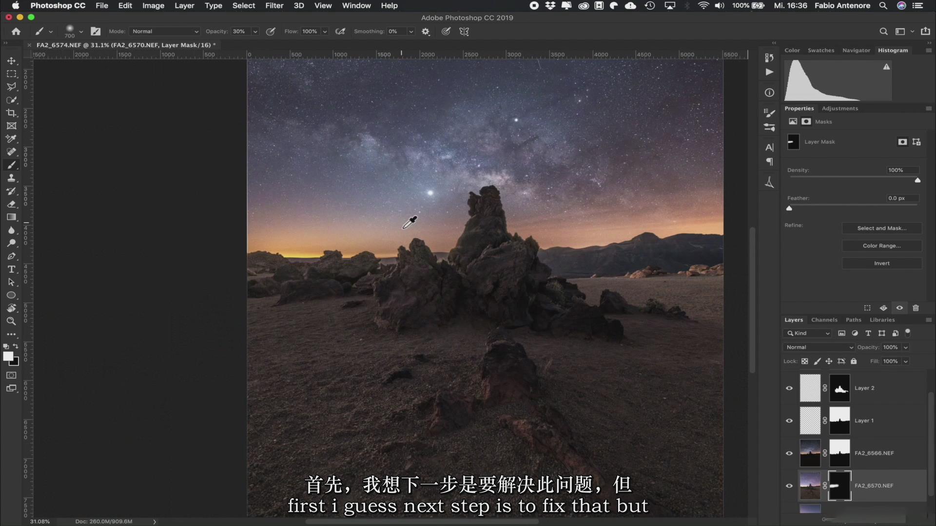 摄影教程_Fabio Antenore-超级真实银河系夜景风光摄影及后期附扩展素材-中英字幕 摄影教程 _预览图22