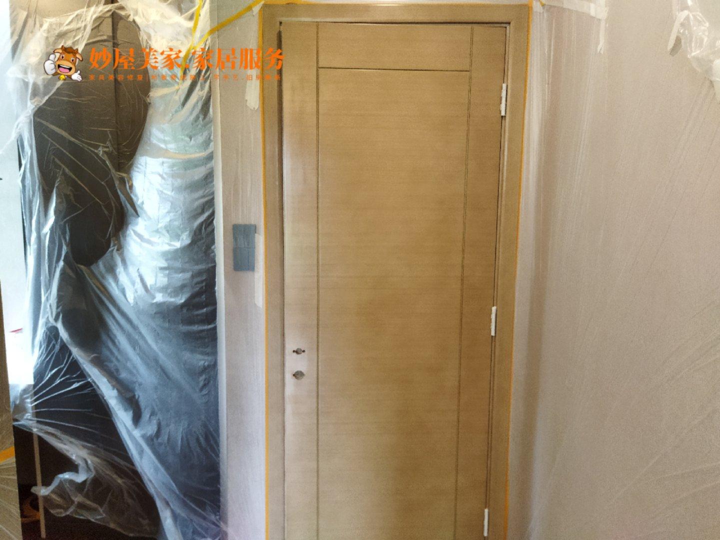 水性漆木门改色,为妙屋家具美容手艺人点赞!