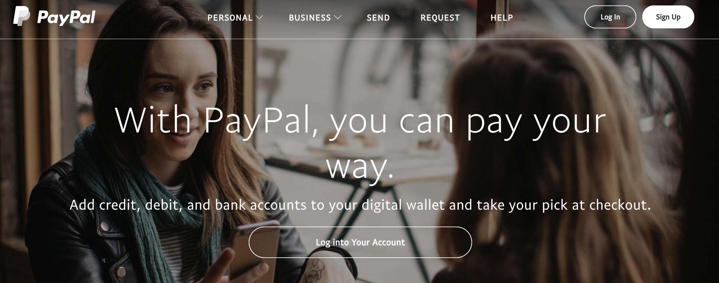美国Paypal的网站,点击右上角Sign Up注册个账号