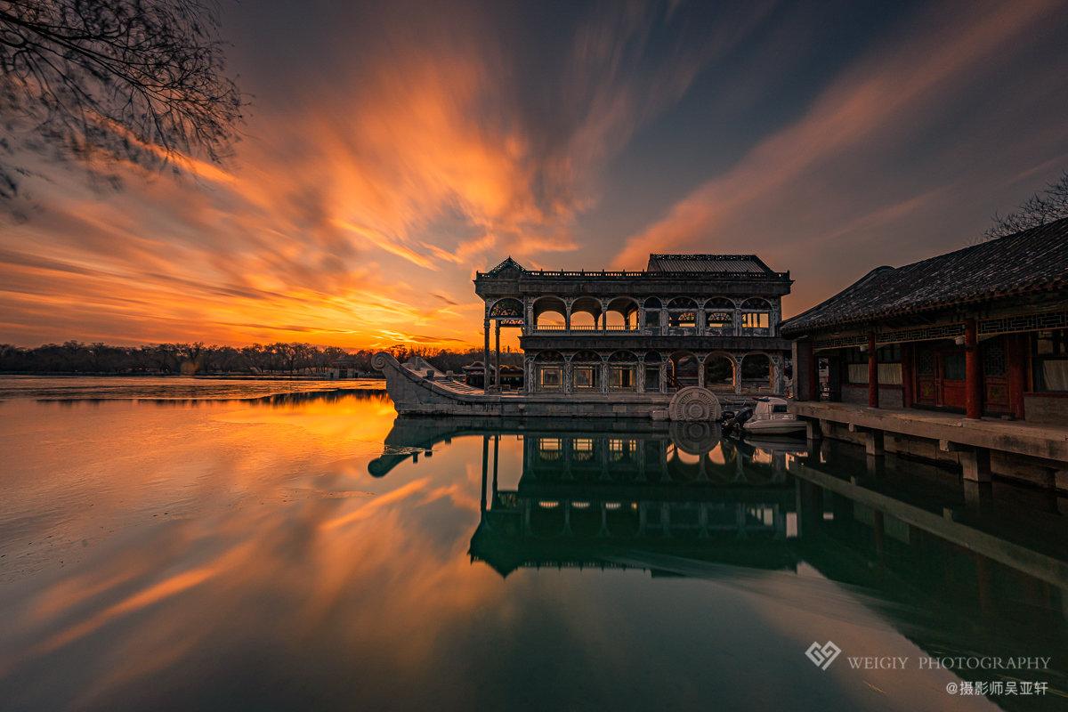 《石舫霞光》——12.8 北京 颐和园