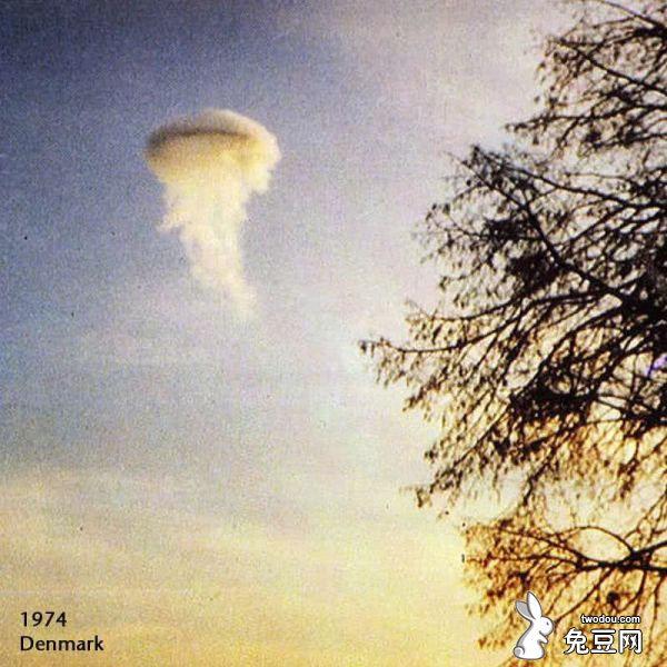 悬浮在空中的巨大水母
