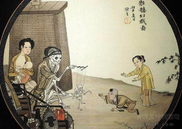 沉睡了八百多年的鬼画骷髅幻戏图,背后含义令人悲痛