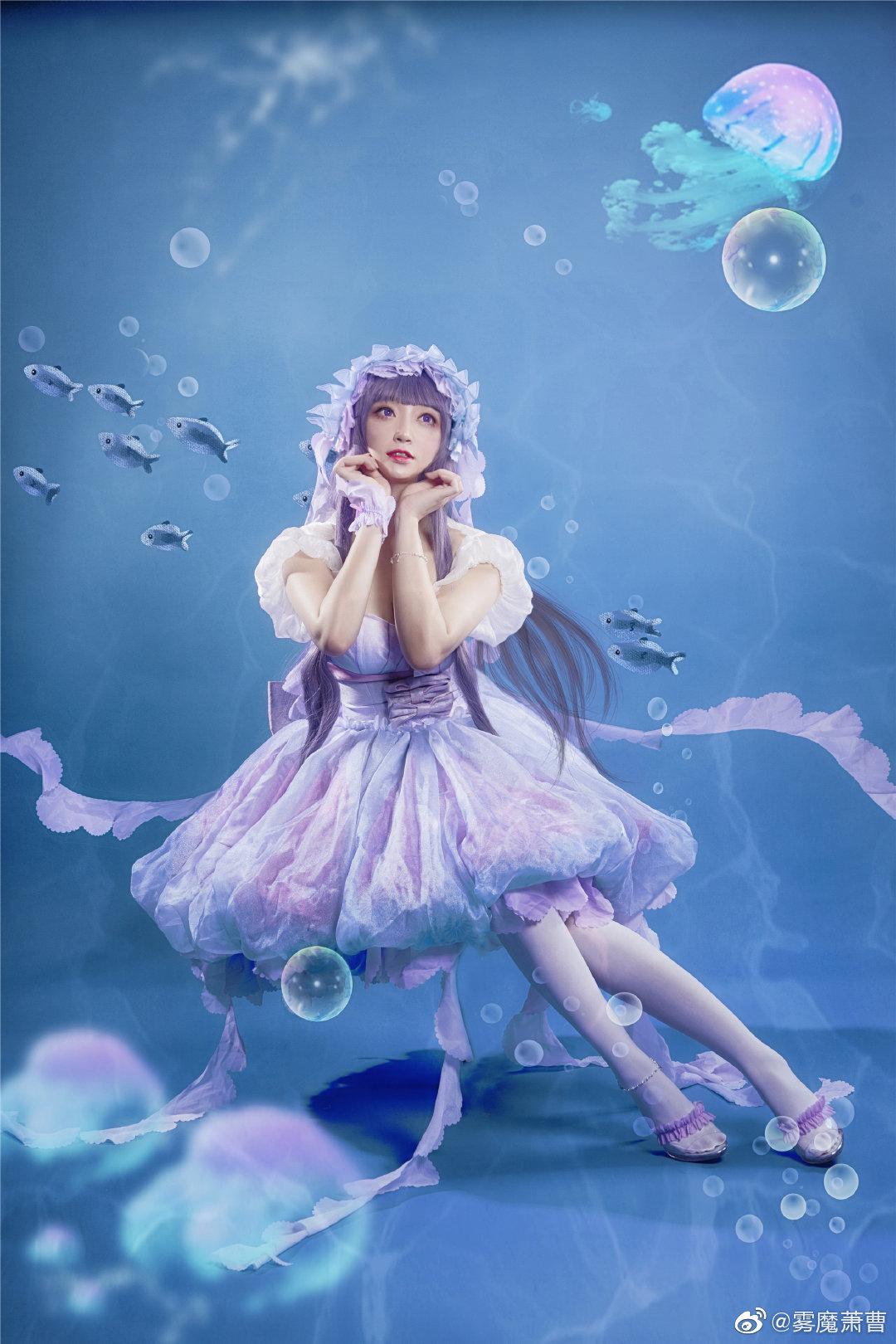 [COS]#魔卡少女樱# 大道寺知世 - 水之轮舞曲 COSPLAY-第5张