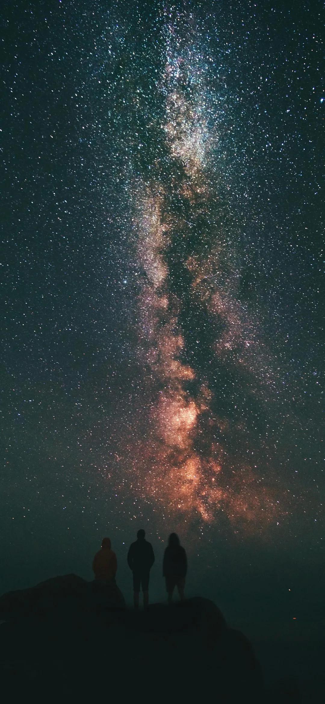 超美夜空星空全屏手机壁纸