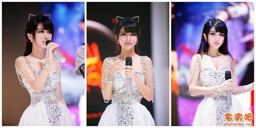 2014 Chinajoy 西山居女神主持 最美女硕士夏小薇 现场屌丝彻底疯了!