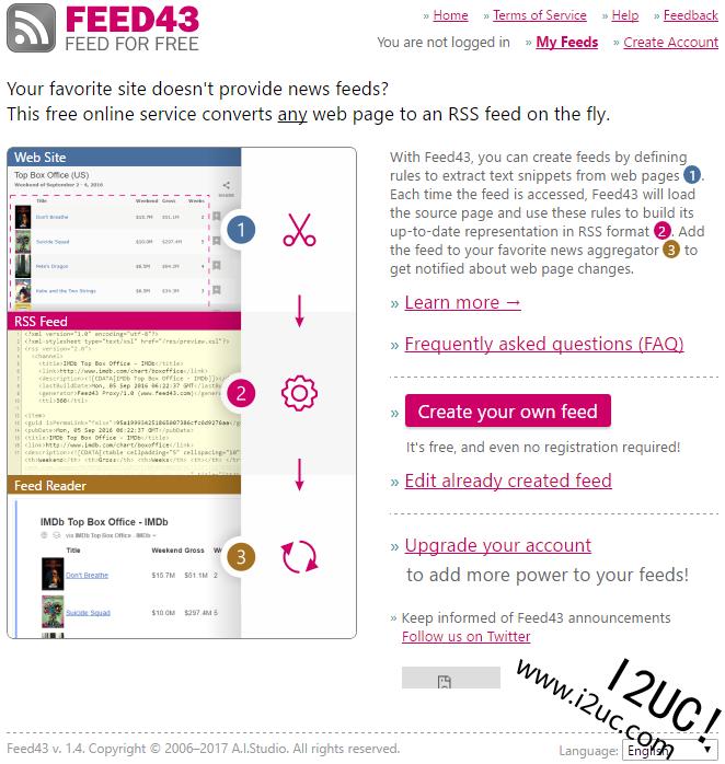 FEED43+IFTTT将任何网站的内容更新发送到邮箱