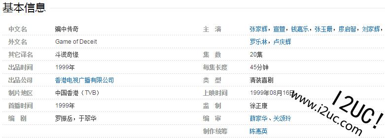 推荐一部TVB老剧【骗中传奇】