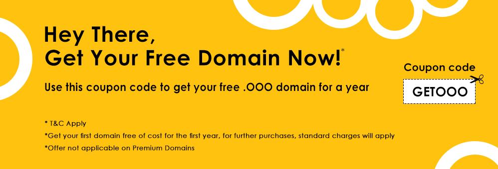 """免费一年""""ooo""""顶级域名。"""